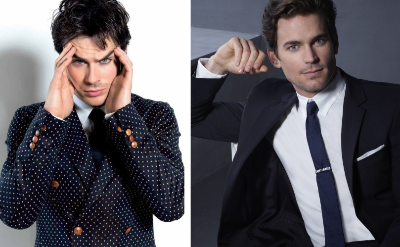 From left to right: Ian Somerhalder and Matt Bomer. Merge them and you have Vincent on my head ;)