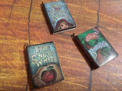 Book charm pendants - $5,14