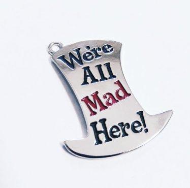Alice in Wonderland pendant - $4,37